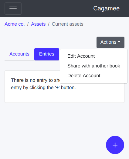 Edit a ledger account on Cagamee